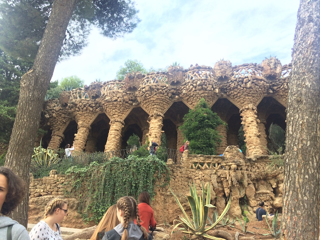 Park Güell Park in Barcelona, Spain